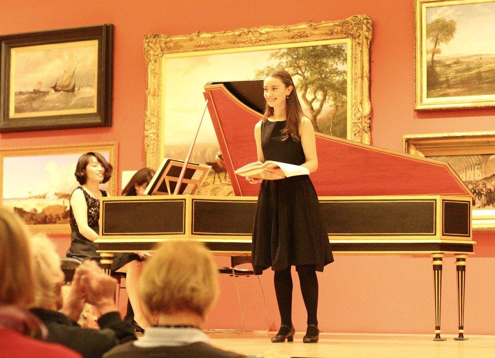 with Asako Ogawa, harpsichord  Leicester International Music Festival
