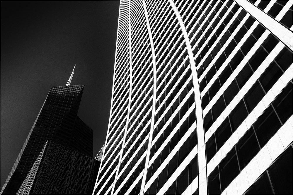 Skyline by Ray Higginbottom  Winner Mono Prints Set Subject - Architecture