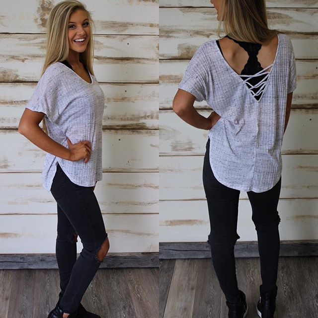 NEW! Lace Up Back Basic $29 & free shipping! •• shop under new arrivals