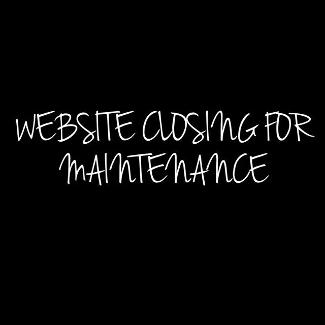 Tomorrow morning @ 10am our website will be closed for maintenance! We will reopen Friday morning with our brand NEW website & LOTS of restocks😍 •• cool new features + the use of PayPal will be added = easier shopping! 💃🏼