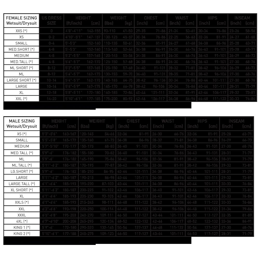 1dddfb5de9b6 Size Charts