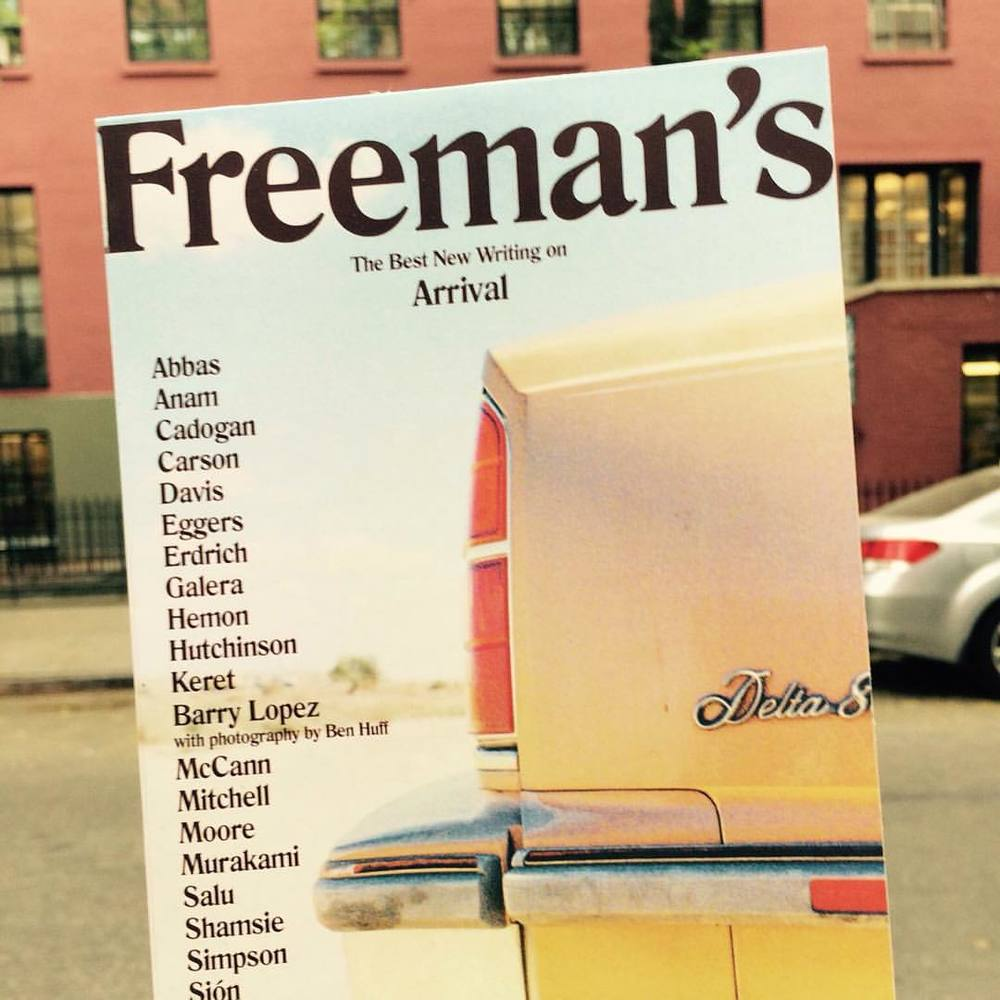 En route to the #NYC launch of #FreemansJournal by @freemanreads @thenewschool where @michelsalu will be reading from his short story 'The Nod' alongside a host of other contributors. Magazine art direction by #saluspace #litmag #literaryswag #booklovers #newmagazine #murakami #daveeggers #tahmimaanam #garnettecadogan #annecarson #lydiadavis #etgarkeret #davidmitchell #helensimpson  (at The New School)