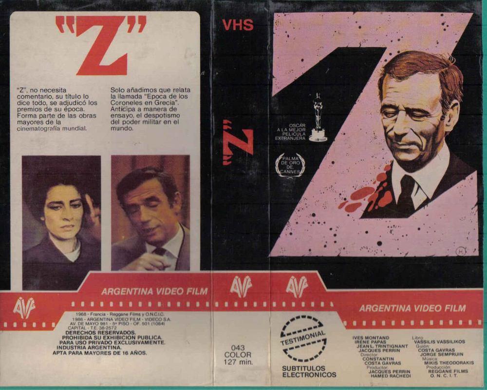phdonohue :      Argentinean VHS for  Z  (Costa-Gavras, 1969)