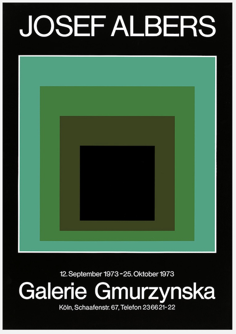 ronulicny :   A very cool   JOSEF ALBERS   exhibition poster from   Galerie Gmurzynska   in Switzerland from back in 1973….