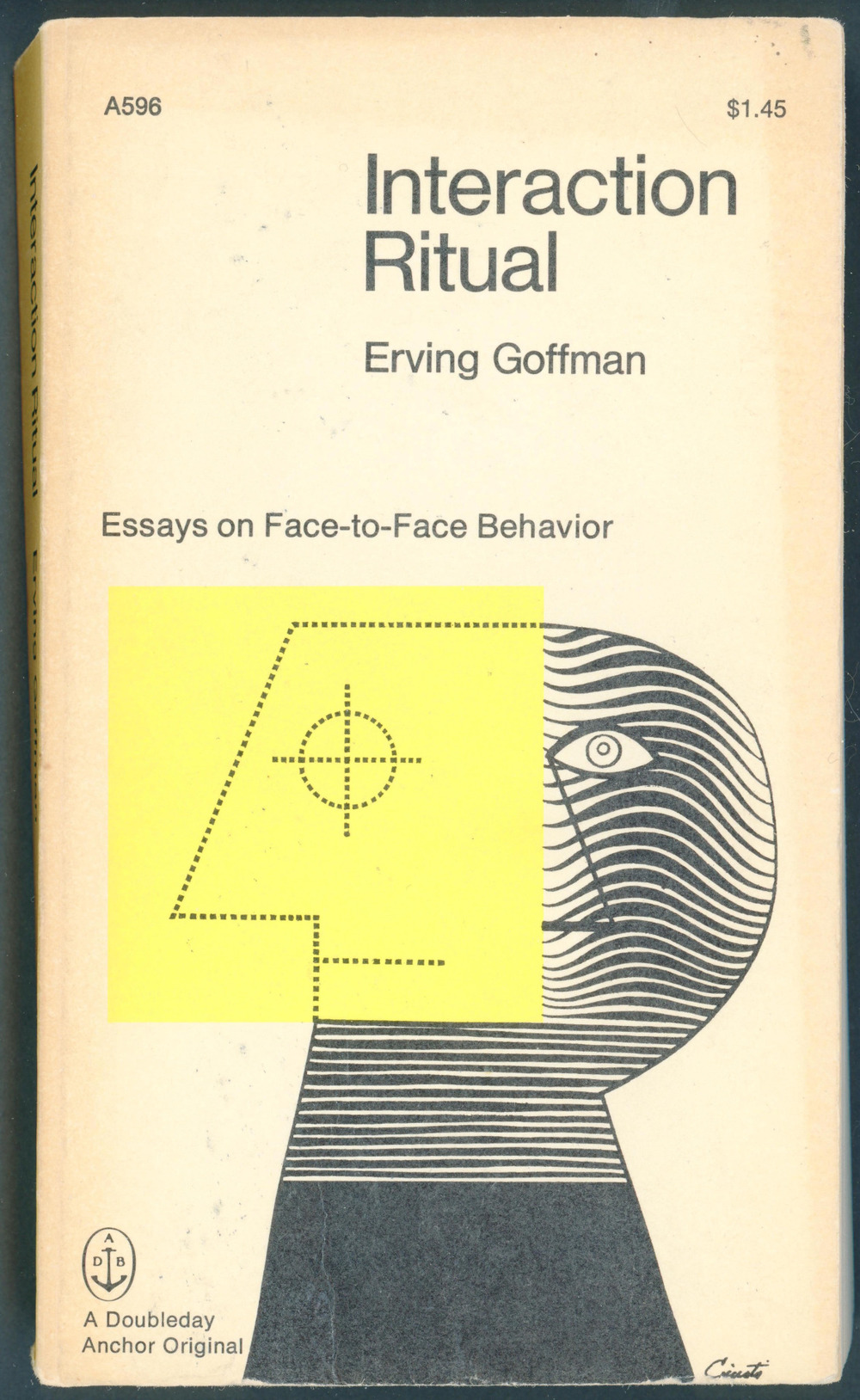 jellobiafrasays:  interaction ritual (1967 ed., cover design by george giusti)