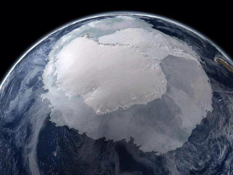 Very rare view of Antarctica from space.