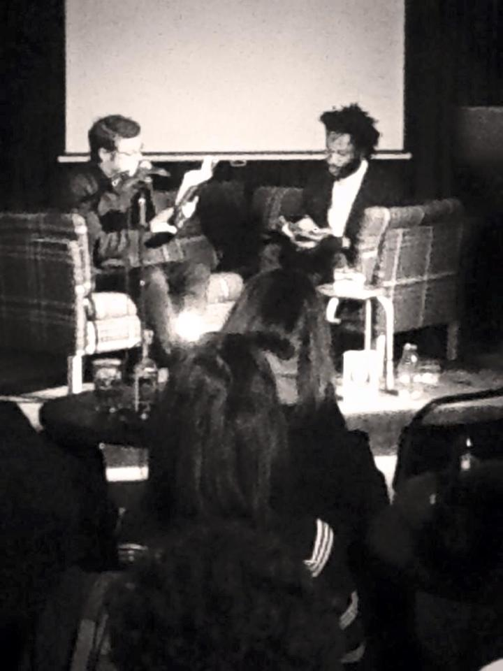 Michael Salu  in conversation with  Ben Lerner  at our last  Local Transport  event in January, at the Ace Hotel London. Topics for discussion were triggered by his new novel !0:04 and sprawled from the nights theme #MyDarkPlaces to the end of pleasure. Videos from the event will be up soon  here