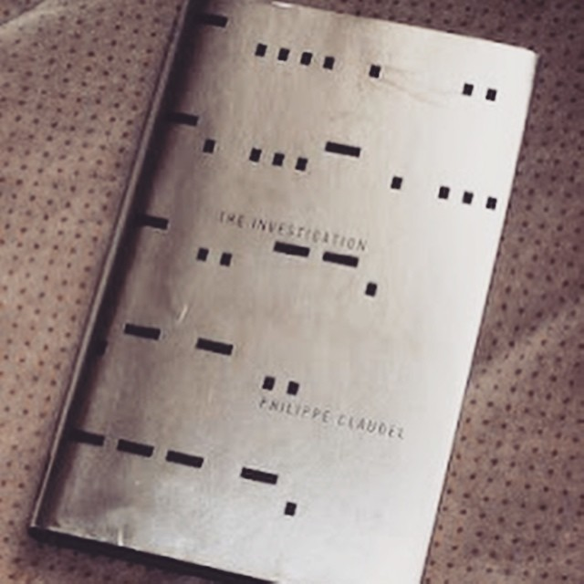 From the archive (2011): cover for the #dystopian #odyssey by Philippe Claudel. The title was repeated in morse code and you can see yourself in it! #mirrorstage #scifi #philippeclaudel #selfie #reflection #graphicdesign #bookdesign #dystopia #coverart #saluarchive #saluspace