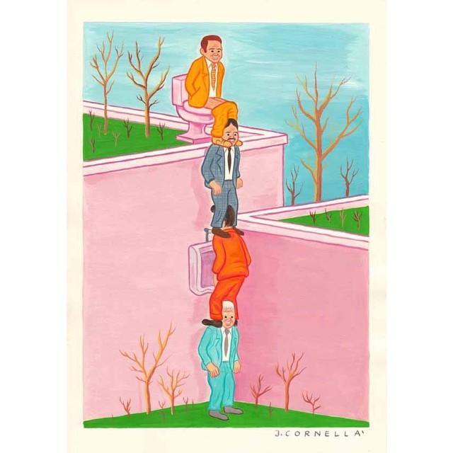 Joan Cornella Vasquez's #illustration #infamous men #worldorder #illustrator #thingswesee