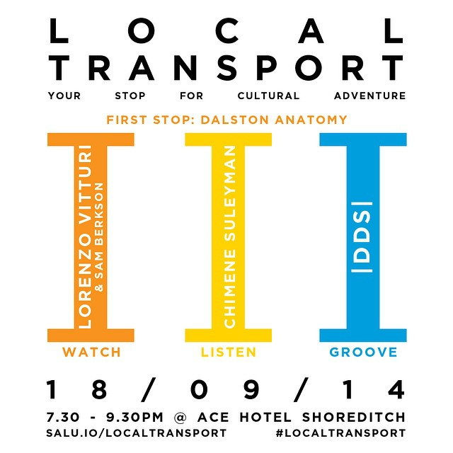 Are you coming to #WATCH #LISTEN & #GROOVE ? Our new  event series  starts 18/04/14 @acehotel #shoreditch #london first stop: #Dalston #anatomy - Drawing from London's pool of fine #art , #photography , fashion , #tech , #music and #literary worlds, Local Transport showcases how London's innovators and tastemakers are working and thinking.   Each edition of  Local Transport  is a critical and conceptual #multimedia event that dissects cross sections of contemporary society, culture, #politics and economics through the prism of multidisciplinary #creative works. By bringing together London-based practitioners for collaboration and discussion through their works as a way of looking at the world, we illuminate the city's diversity as a hub for global opinion and insight. #localtransport