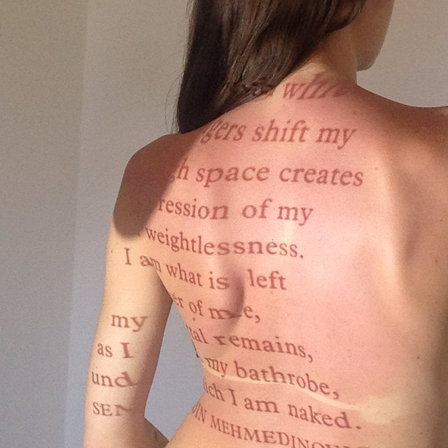 Archive: Behind the scenes of the #photoshoot for the cover of Granta #magazine #medicine issue in 2012. We examined how we wear our #scars. #Love the way #type follows the #contours of the #body when projected. #projection #projectionart #artdirection #photography #nude #typography #quote #books #booklovers #skin #hair #beauty #scar #wound #writing #poetry #graphicdesign #3D #colour #flesh #Saluarchive