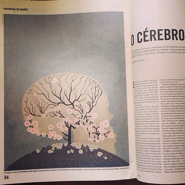 An #illustration we created on #dementia 2011. featured in the #horror issue of Granta #magazine #uk & @revistapiaui in #Brazil. Inspired by #Japanese #woodblock #prints #graphicarts #winter #skull vector #screenprint #deadtree #grey #brain #brainmatter #body #mind #graphicdesign #artdirection #saluarchive #colour