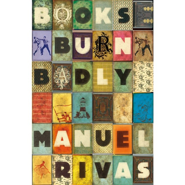 Our cover for #Books #Burn Badly by Manuel #Rivas in 2009. #typography #booklovers #graphicdesign #bookcovers #lighthouse #colours #grid #geometry #mosaic #pattern #bookdesign #SALUarchive
