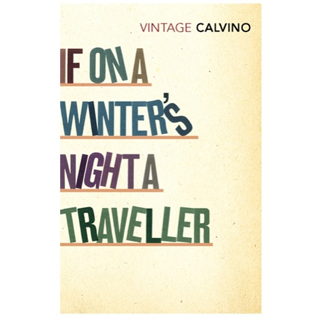 The classic #meta #fiction #IfOnAWintersNightATraveller which was actually the first in our typographic #bookcover series for #ItaloCalvino 2007. You can still see it around in the shops. #typography #bookshelf #bookshelves #booklovers #calvino #letterpress #colours #books #literature #bookworm #words #graphicdesign #narrative #typedesign #bookdesign #winter #night #travel