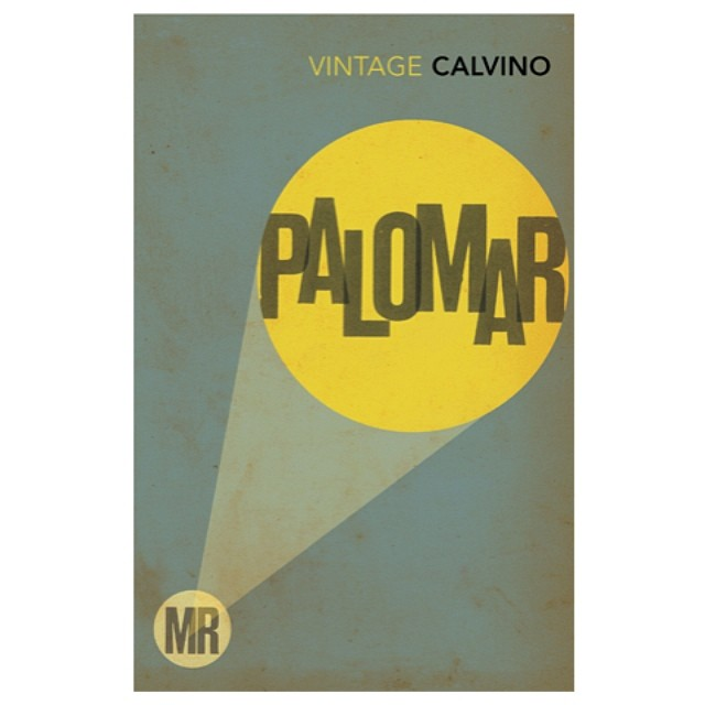 Mr Palomar. From our #bookcover series for ItaloCalvino 2008 #typography #typedesign #graphicdesign #books #booklovers #classic #colours #yellow #light