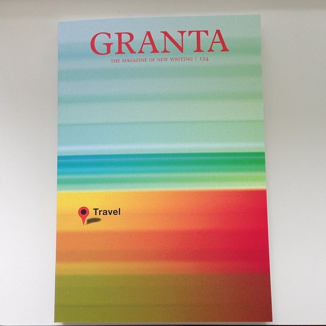 here's our cover #design for #granta #magazine 124: #travel in 2013. This issue included an original #photo project that we curated from the Archive of Modern Conflict as well as a series from Steffi Klenz. #pixelscape #landscape #gradient #colours #artdirection #saluarchive  #magazinedesign #magazinecover