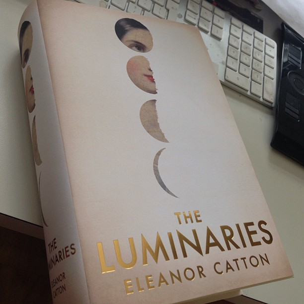 Certainly worth re blogging. Huge congrats to @eleanorcatton for @manbookerprize win!  How to build a #tome. New #eleanorcatton for @grantabooks #astral #moon #moonphase #celestial #astronomy #space #jennygrigg #michaelsalu #luminaries #manbookerprize #luminariescover #literature #moon