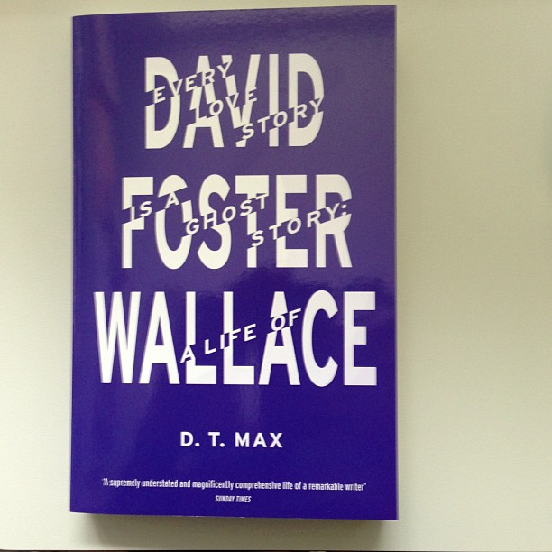 Paperback of #davidfosterwallace #biography by @fuelpublishing is ready to go #coverart #typography #typedesign #graphicdesign