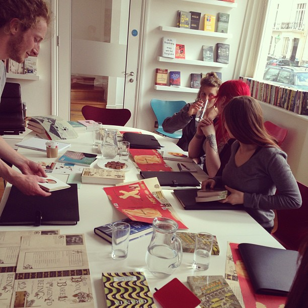A talented #gang of @falmouthuni #illustration #graduates descended upon @grantamag @grantabooks office #today