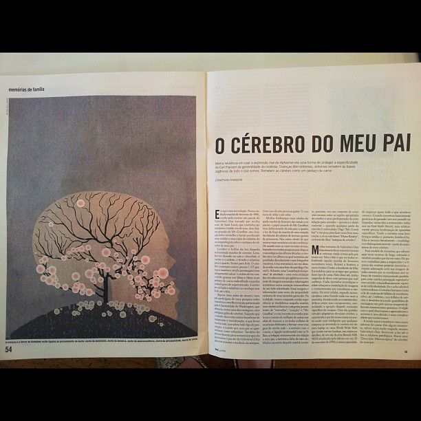 One of my #illustrations used in the Brazilian magazine Piaui (Taken with  Instagram )