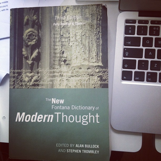 A favourite reference book. #modernthought (Taken with  instagram )