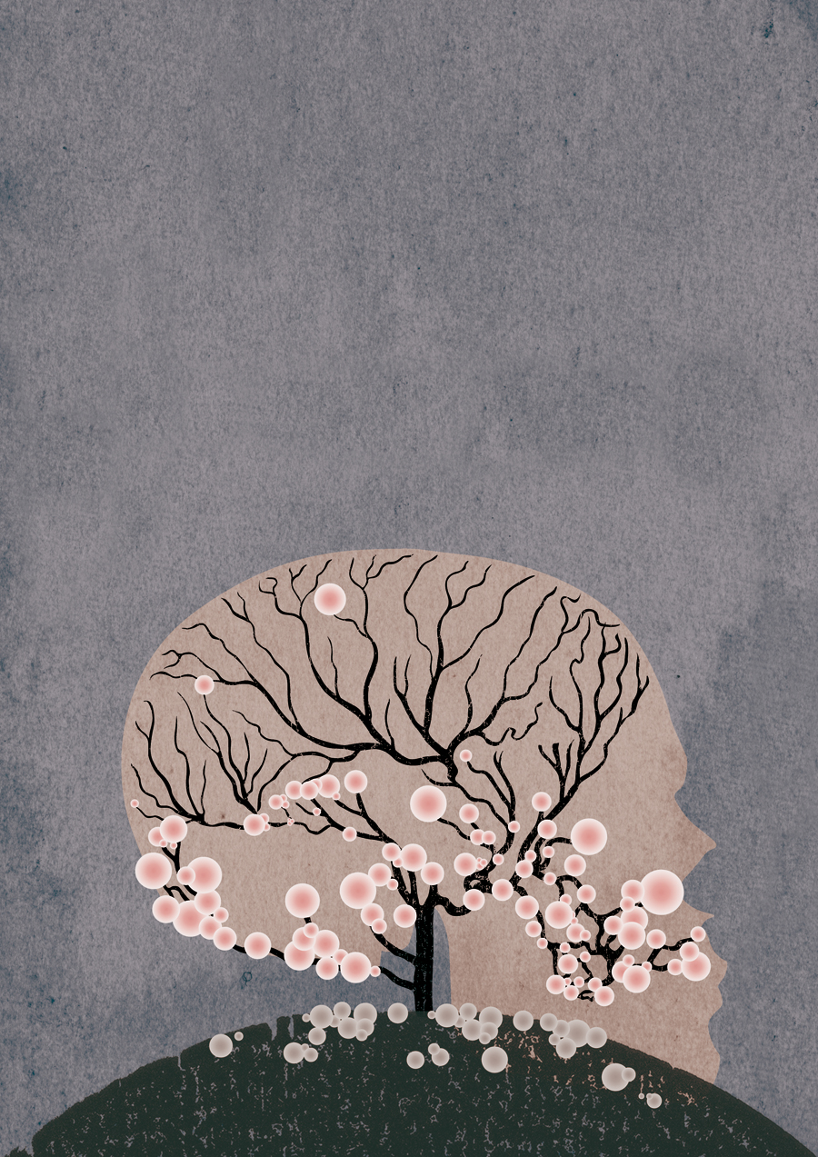 Loss, dementia and  Ukiyo-e . Another illustration from the @GrantaMag Horror  issue . This one by Michael Salu