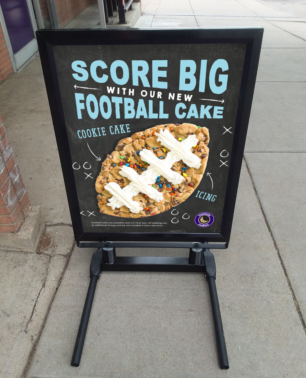 Football Cakes launch exterior promotional collateral