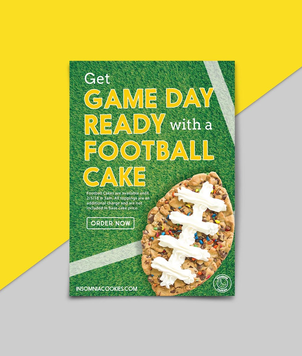 Football Cakes Relaunch flyer