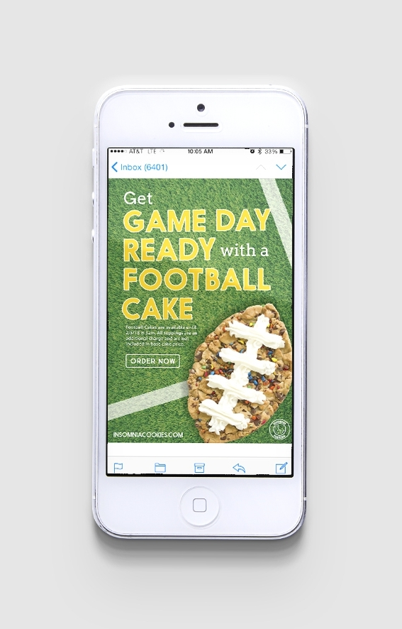 Football Cakes Relaunch email