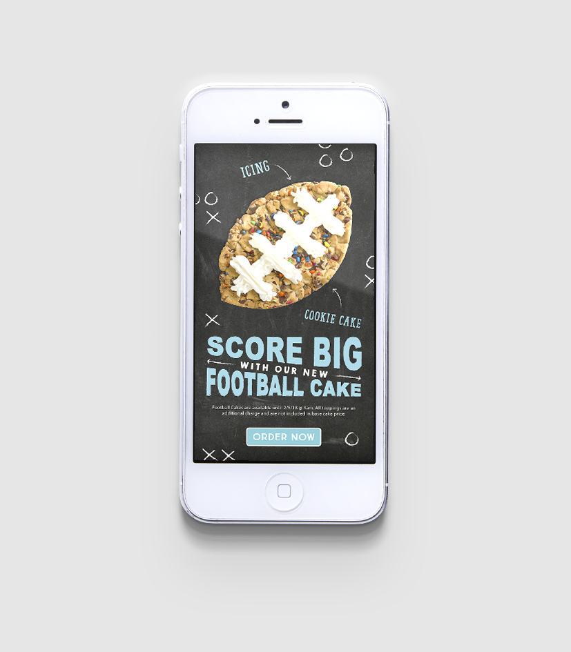 Football Cakes launch mobile landing page