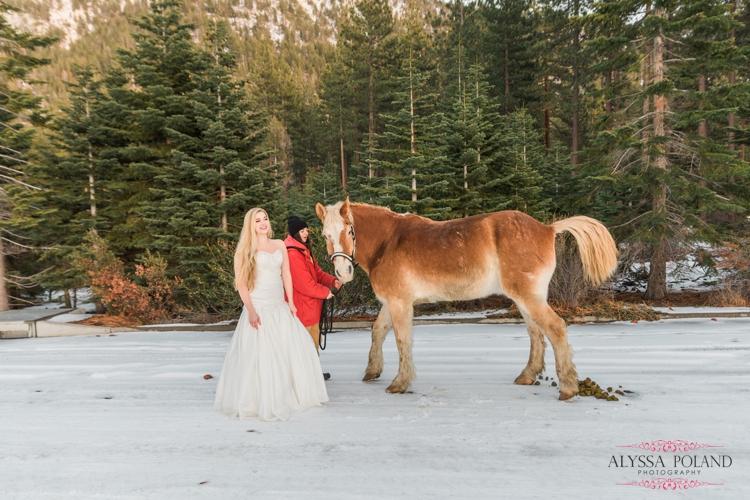 Sand Harbor, South Lake Tahoe Winter Wedding