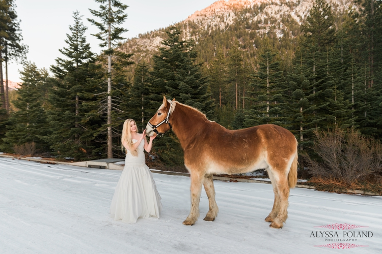 Sand Harbor, South Lake Tahoe Winter Wedding
