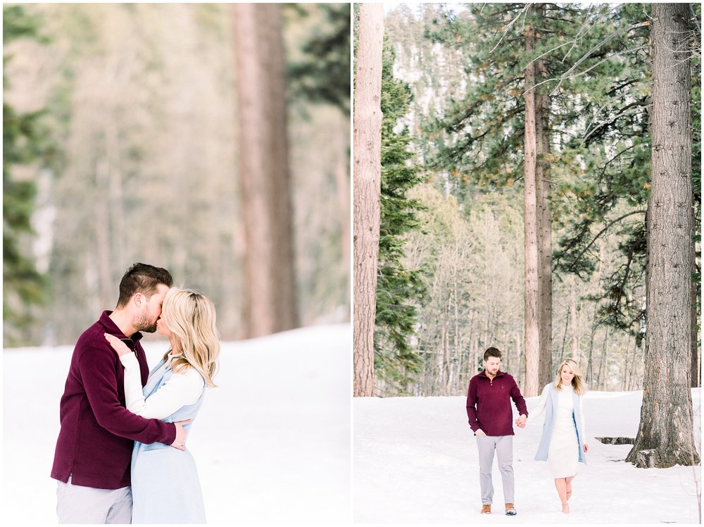 tahoe winter engagement