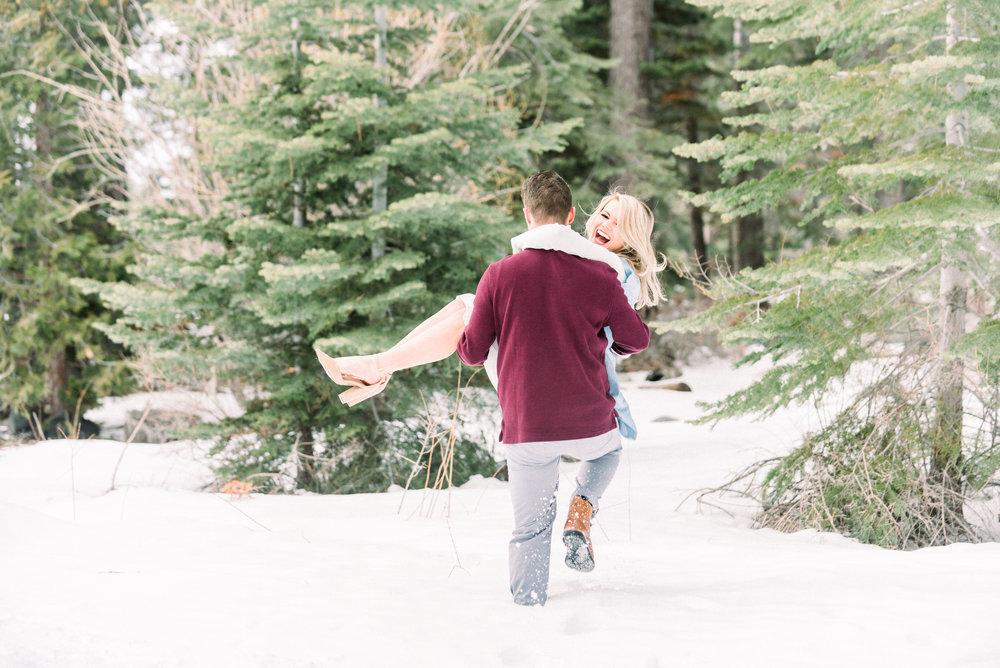Lake Tahoe engagement photos