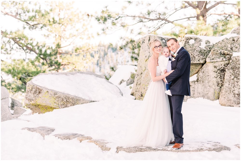 winter wedding portraits