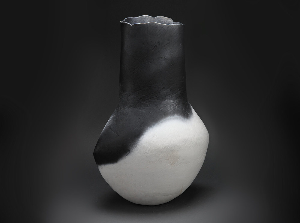 "Untitled , 2014     22"" x 15.5"" x 9""     saggar fired clay"