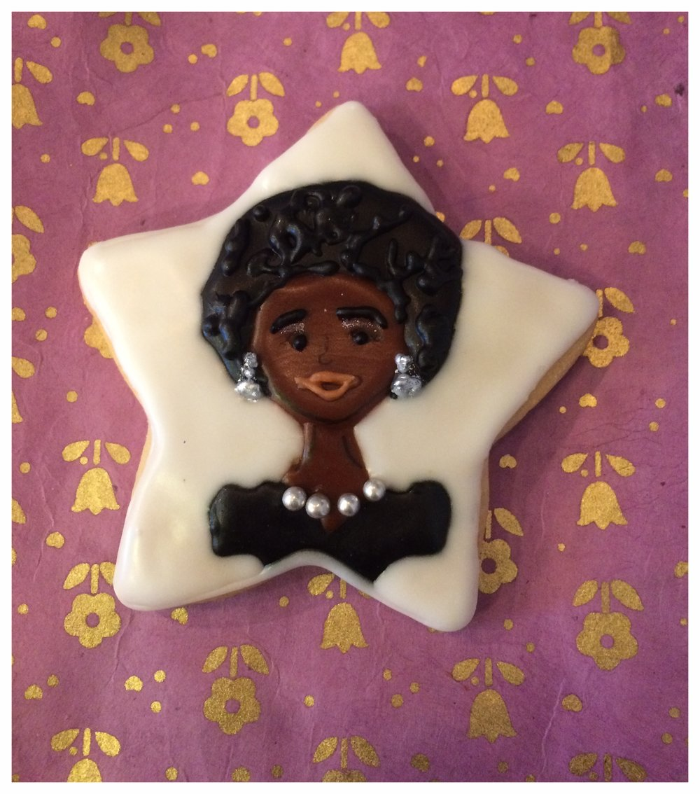 Nina Simone tribute cookie.