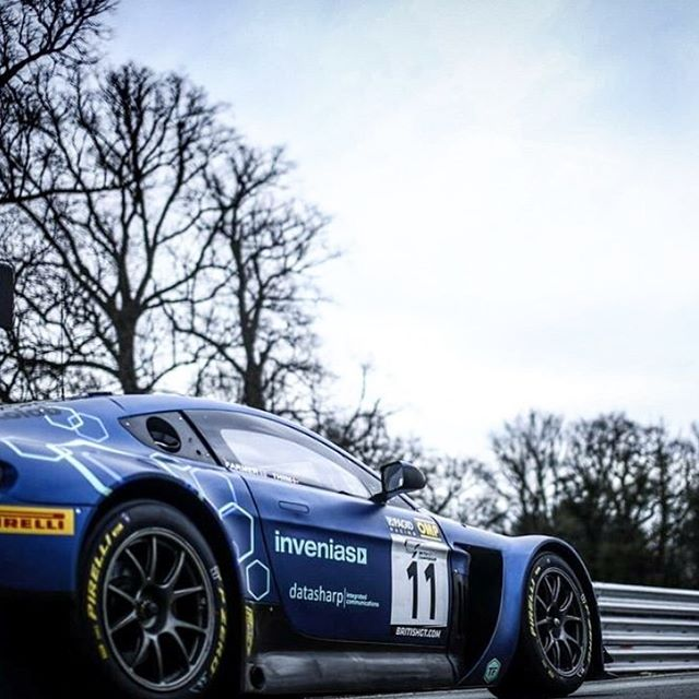 "Pleasure to get back behind the wheel of the ""I'm Blue Dabedidabedei"" weapon 👍🏽 Feel like we are ready to Go Hard Or Go Home for the next @british_gt round here in @circuit_spa_francorchamps 🏁 #yayaya #blue #astonmartin #gt3 #weapon #belgium #british #clash #endurance #racing #champion #gohardorgohome #danskyjr"