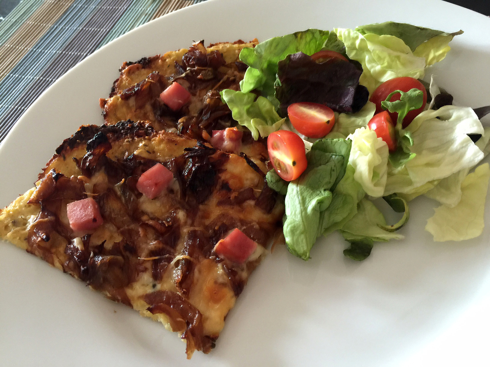Low Carb Caramelized Onion Tart with Cauliflower Crust Recipe