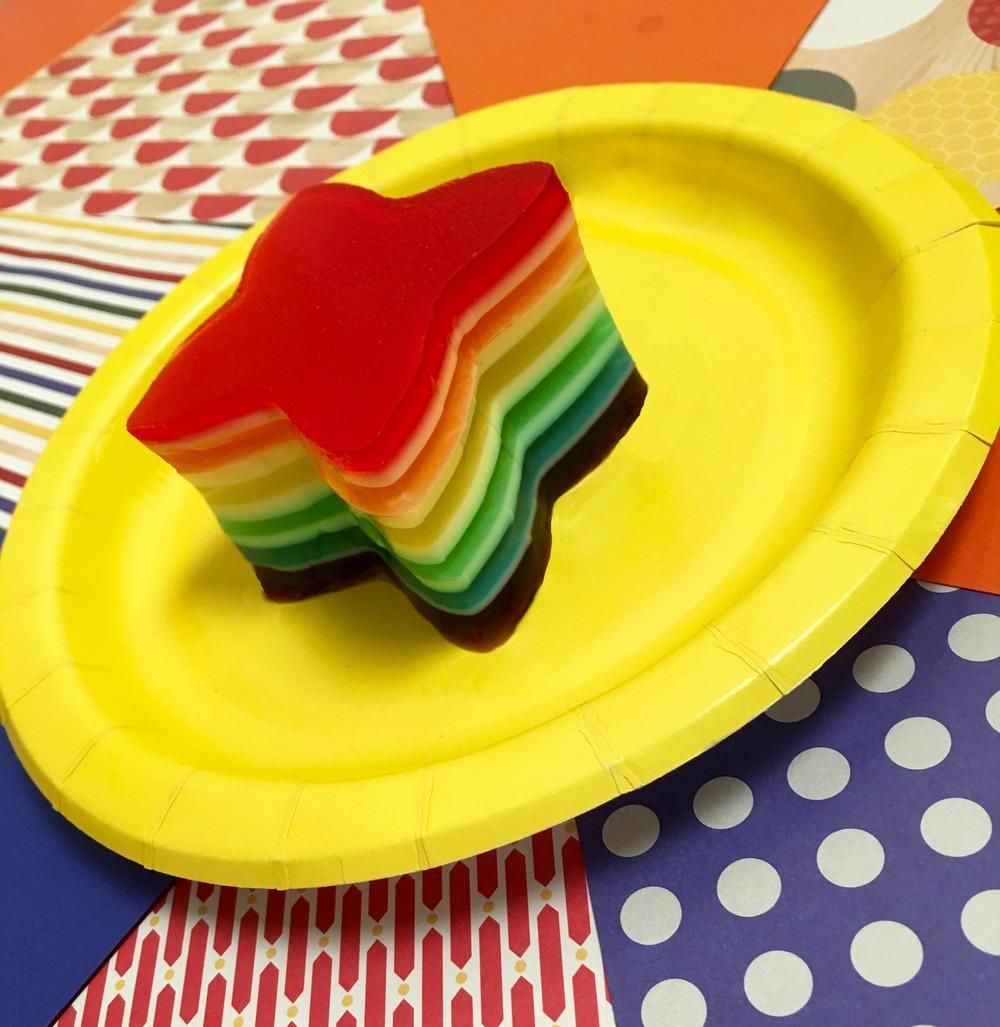 Rainbow Ribbon Jello