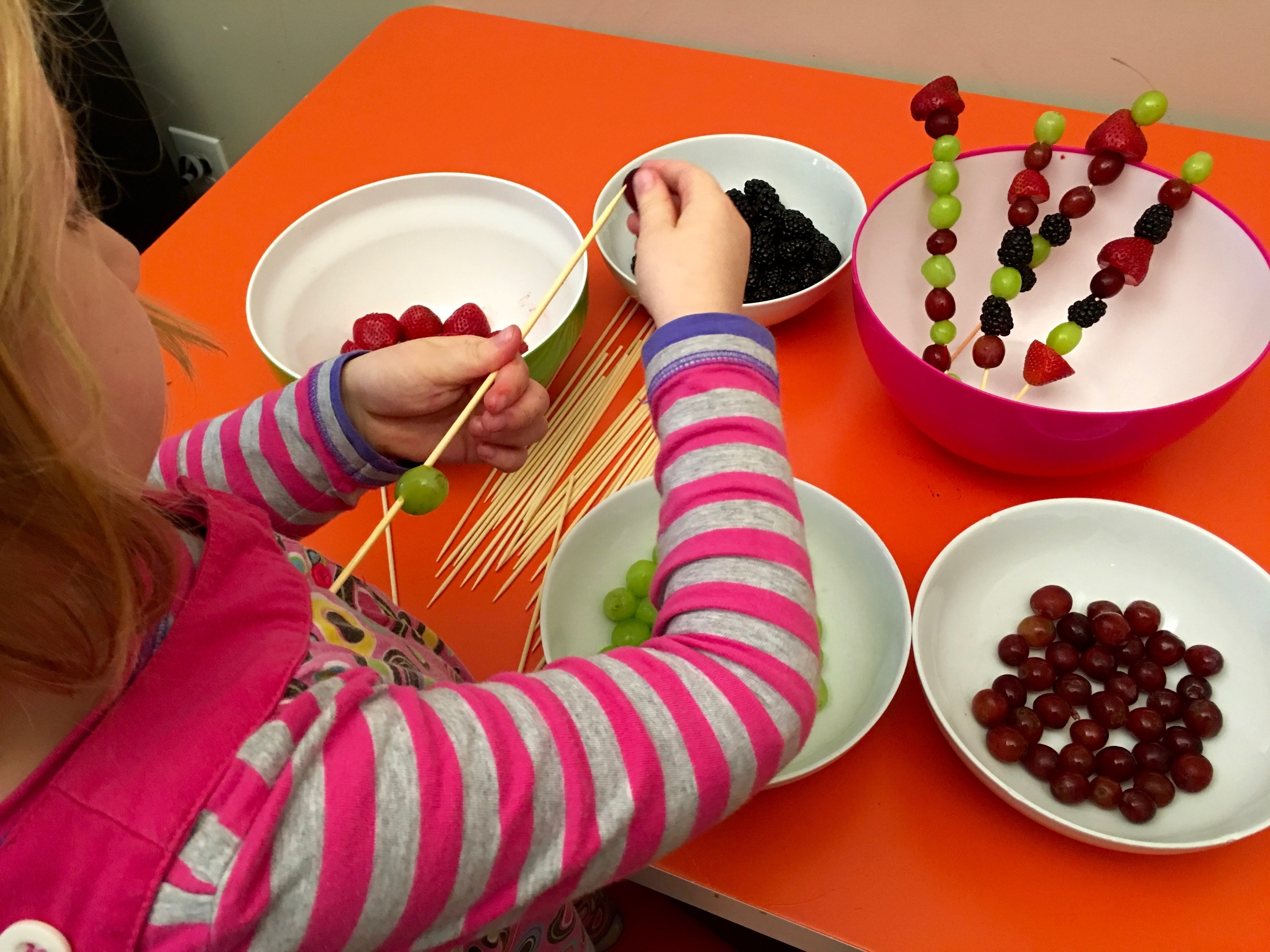 Fruit Pick-Up Sticks Kid Food Activity