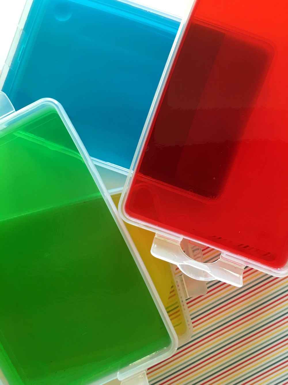 Quick Rainbow Jello Knox Blocks