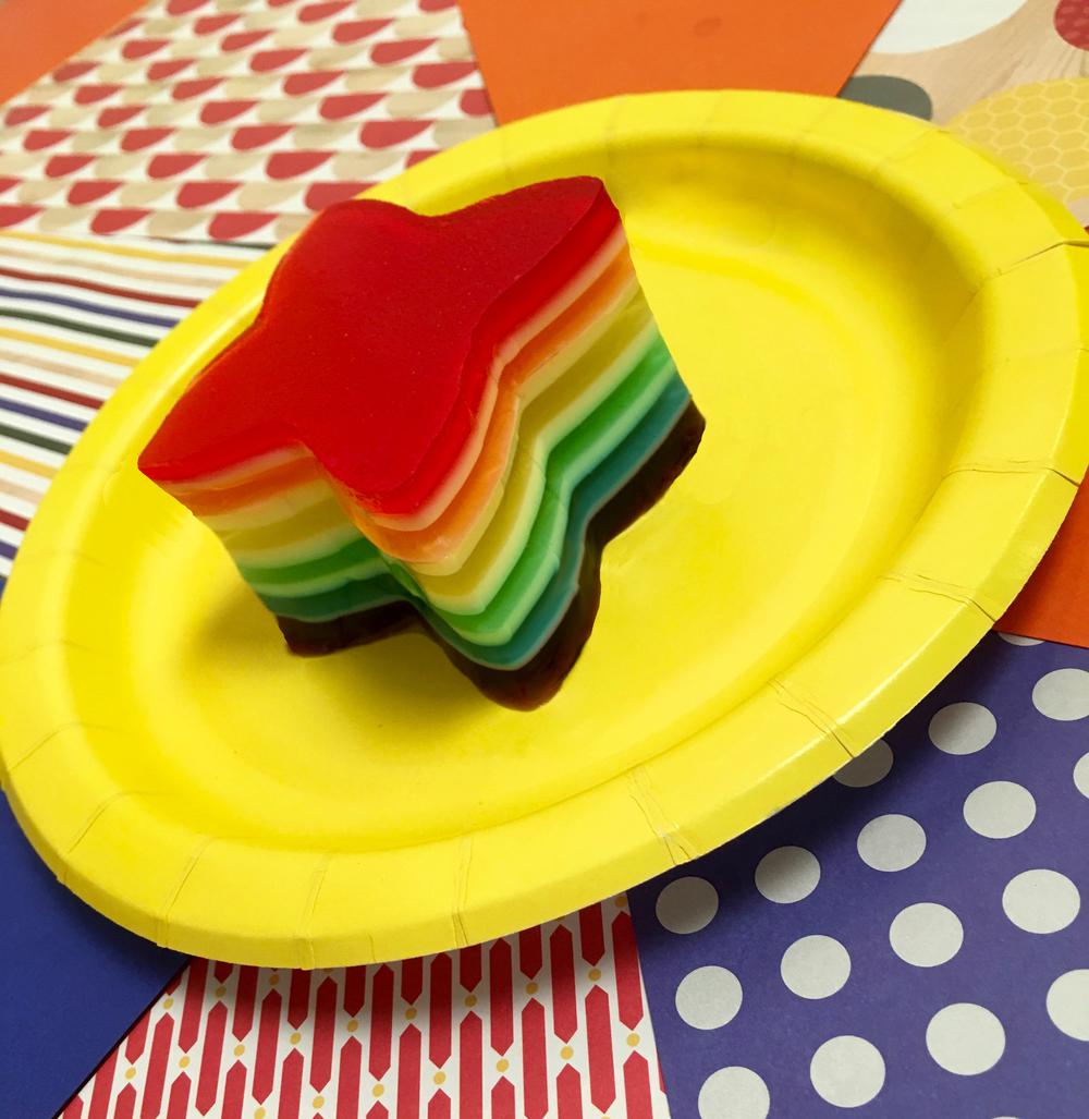 Rainbow Ribbon Jello Recipe
