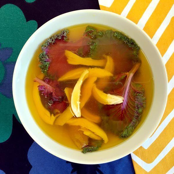 Turmeric Broth with Kale and Chicken