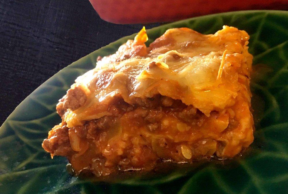 Low Carb Keto Lasagna with Yellow Squash Noodles