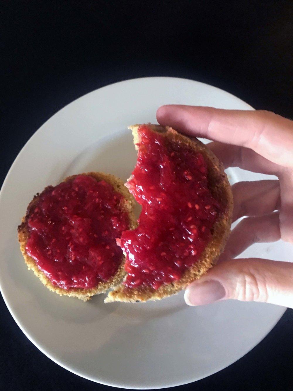 Low Carb Keto Rhubarb Raspberry Jam Recipe