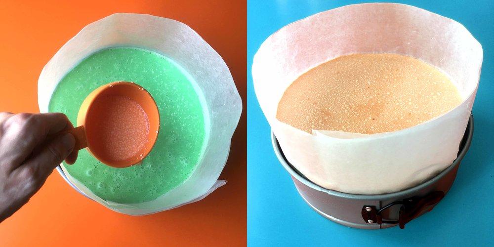 Low Carb Keto Rainbow Jello Cake Recipe
