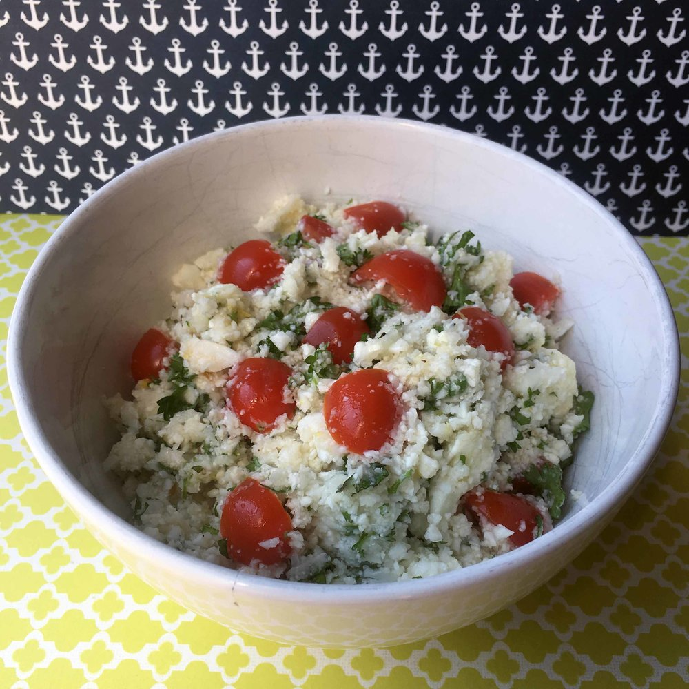 Cauliflower Keto Tabbouleh Salad Recipe