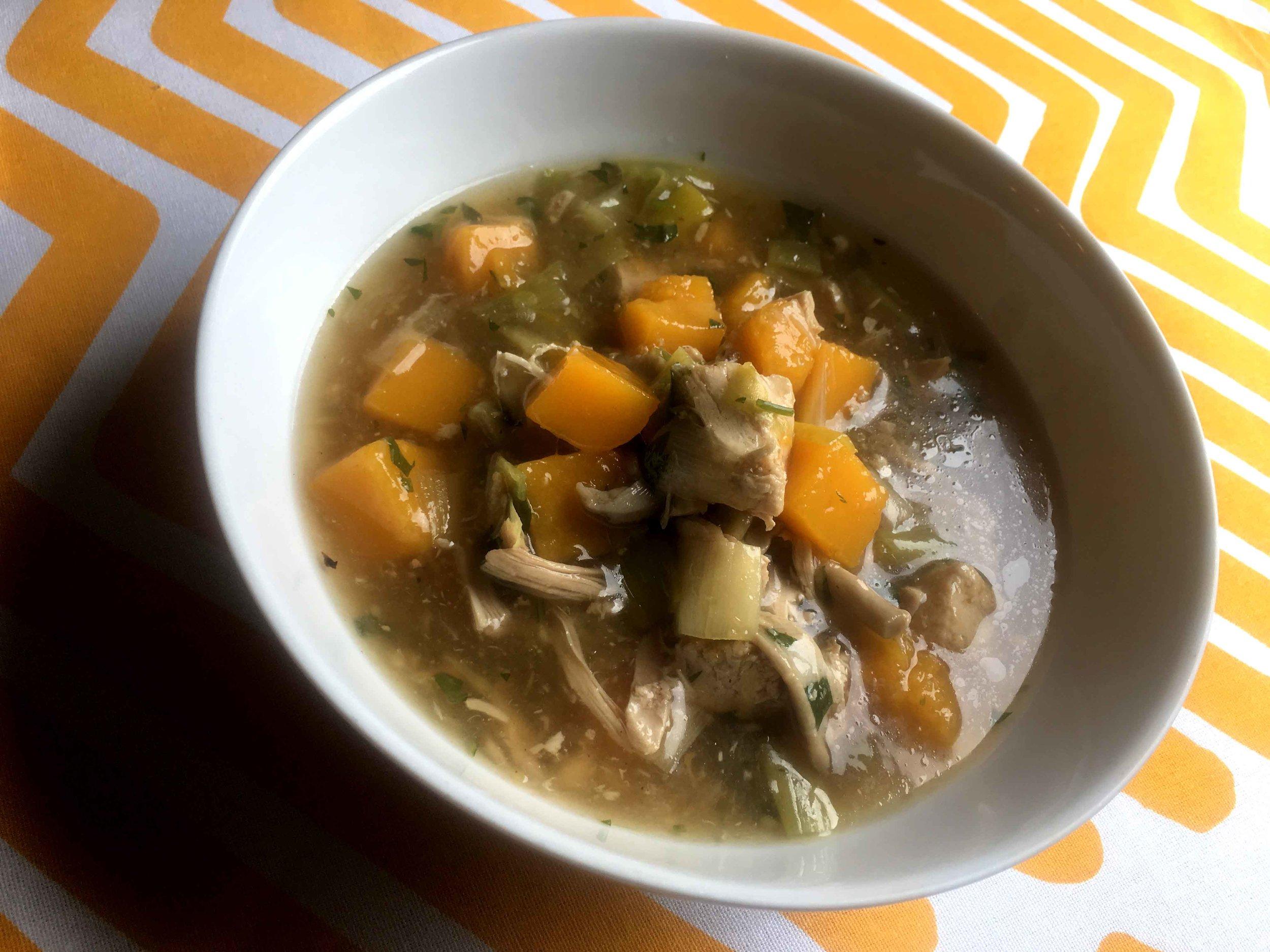 Low Carb Keto Cock-A-Leekie Soup Recipe