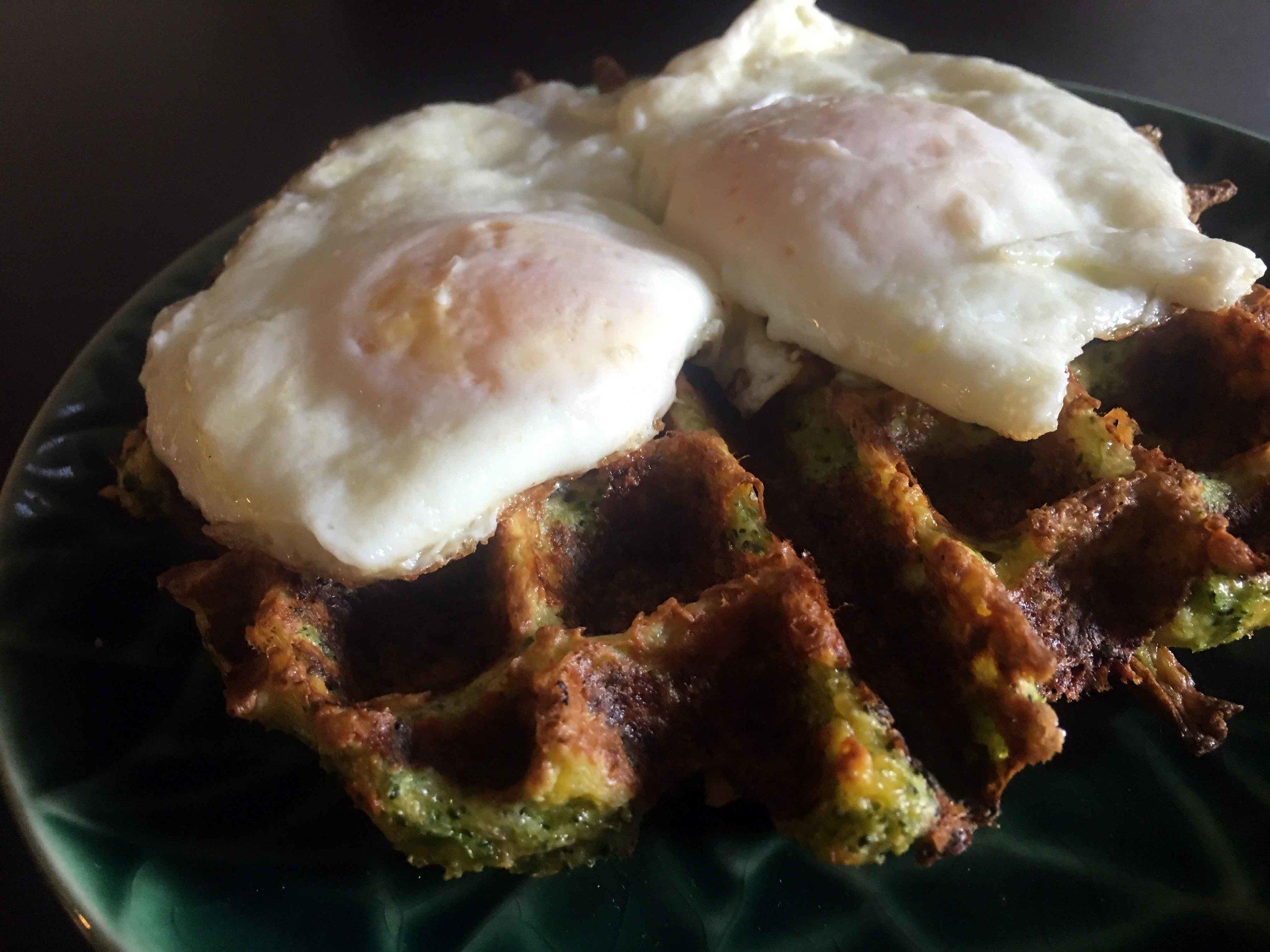 Low Carb Keto Broccoli Cheese Waffle Recipe